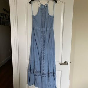 Altar'd State Dresses - Light Blue Bohemian Maxi Dress